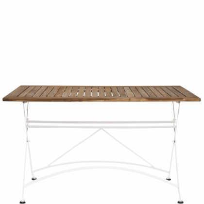 PARKLIFE Stůl 80x130cm – bílá/hnědá
