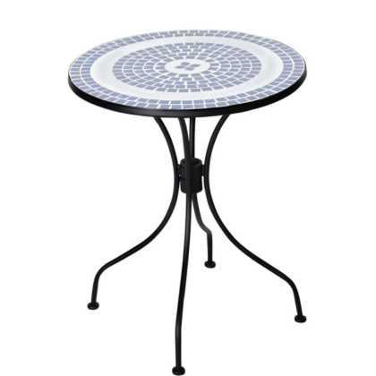 Kovový zahradní stolek se vzory na desce