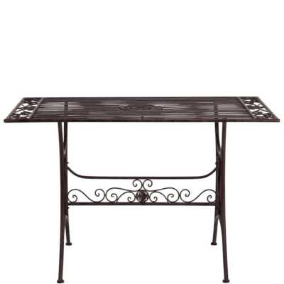 Kovový venkovní stůl