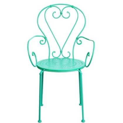 Zelená kovová židle