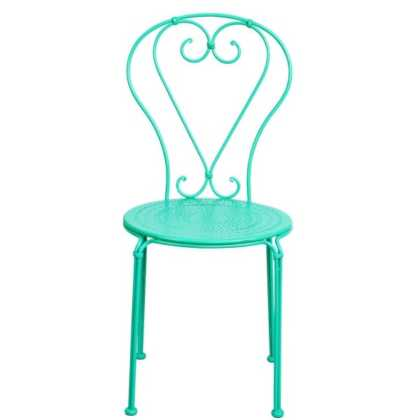 Kovová CENTURY Židle ve francouzském stylu – mátová