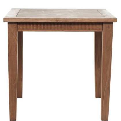 Dřevěný stůl s řezvou Teak Time s certifikátem