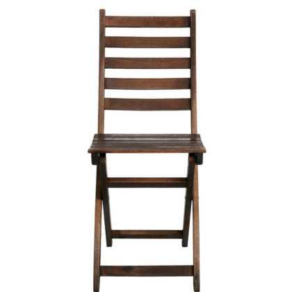 LODGE Skládací židle FSC-eukalyptus – hnědá