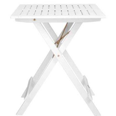 Malý přenosný stolek bílý