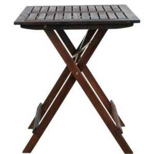 LODGE Skládací stůl eukalyptus – hnědá