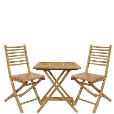 Bambusový set - židlě, tůl