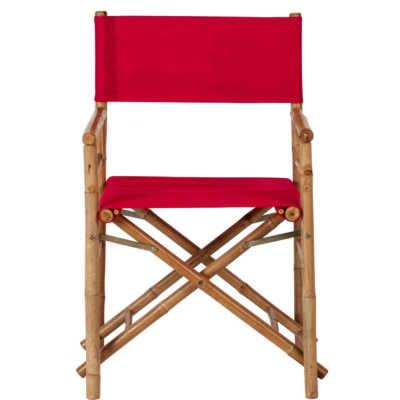 BOLLYWOOD Režisérská židle – červená