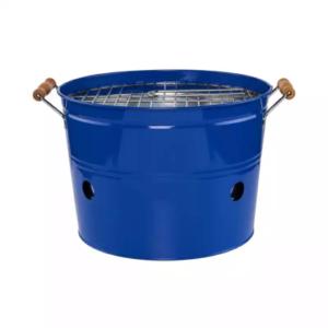 Modrý gril – kulatý, jednoduchý, přenosný