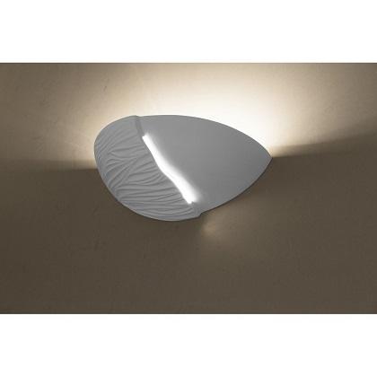 Bílé keramické designové nástěnné svítidlo