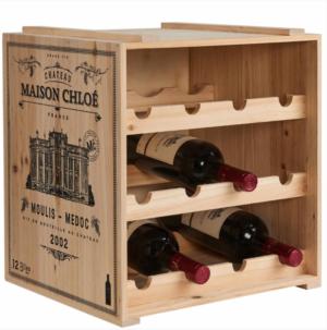 Rustikální regál na víno Vinothek